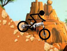 Stickman pe Bicicleta