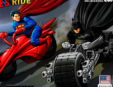 Superman vs Batman cu Motocicletele