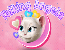 Talking Angela Bubble cu Inimioare