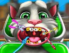 Talking Tom Vizita la Dentist