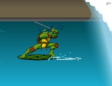 Testoasele Ninja Surfing