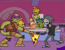 Testoasele Ninja Ultima Felie de Pizza