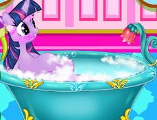 Twilight Sparkle la Spa