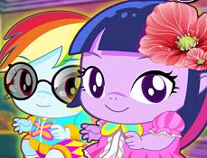 Twilight si Rainbow Dash Bebelusi