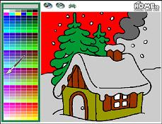 Coloreaza Casa De Craciun